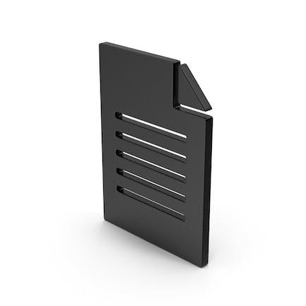 Black Symbol Office Paper