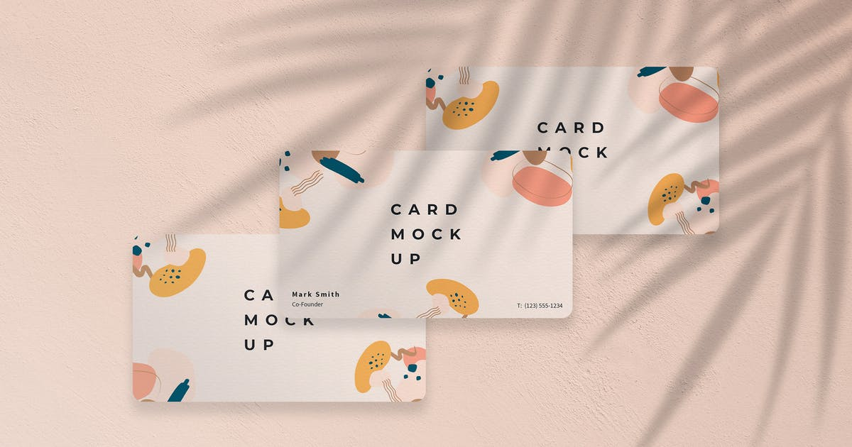 Download Business Card Mockup with Shadow Overlay Template by ExplicitConcepts
