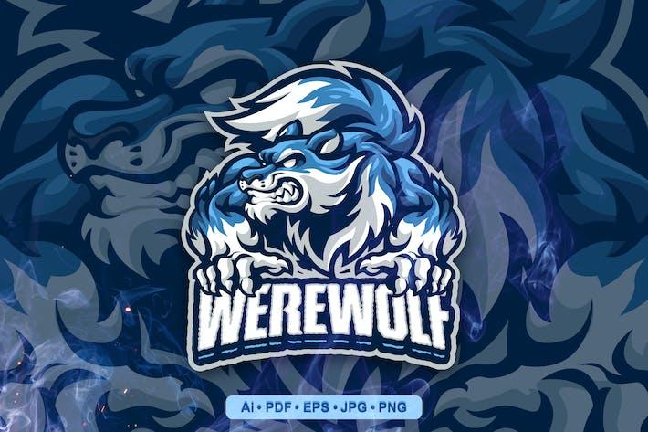 Were Wolf Esports and Sports mascot Logo