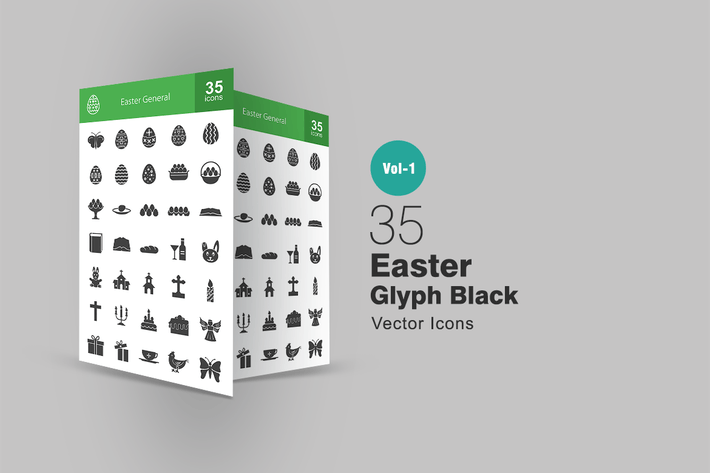 Thumbnail for 35 Easter Glyph Icons