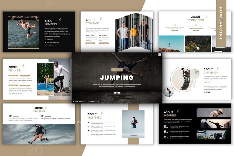 Jumping - Google Slide Template