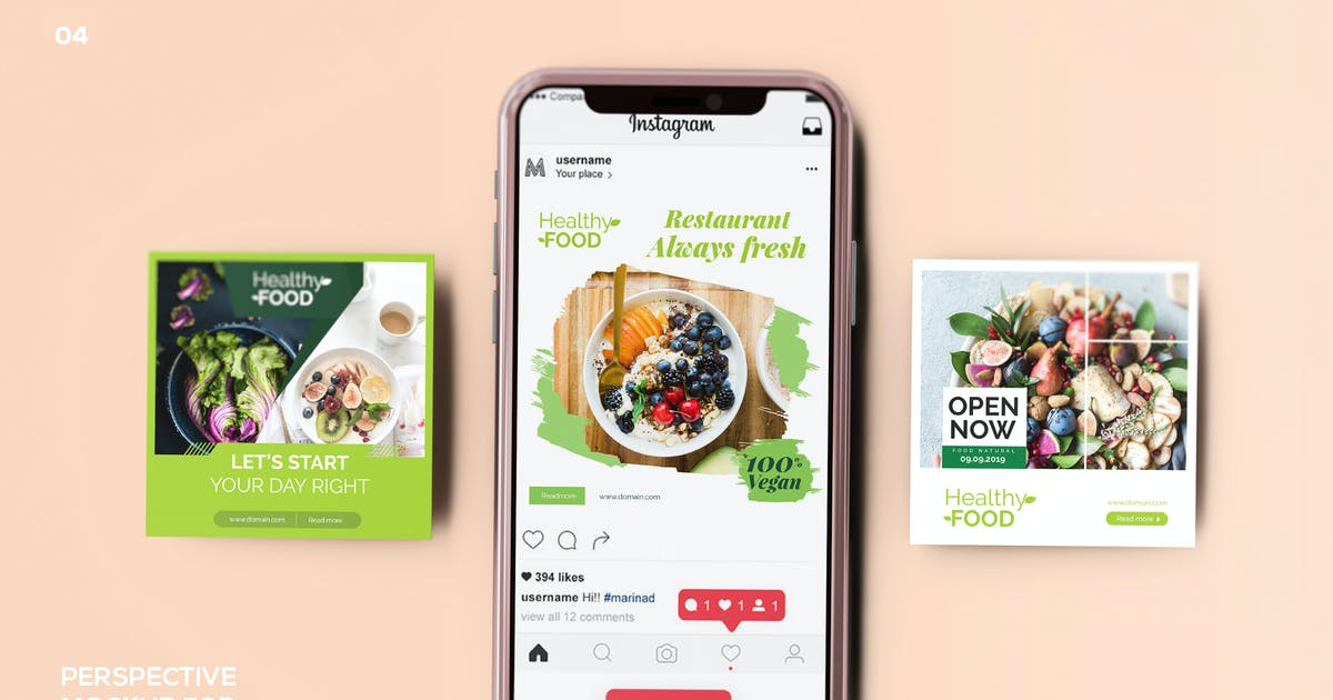 Download Perspective Mockup for Instagram Post 04 by Wutip