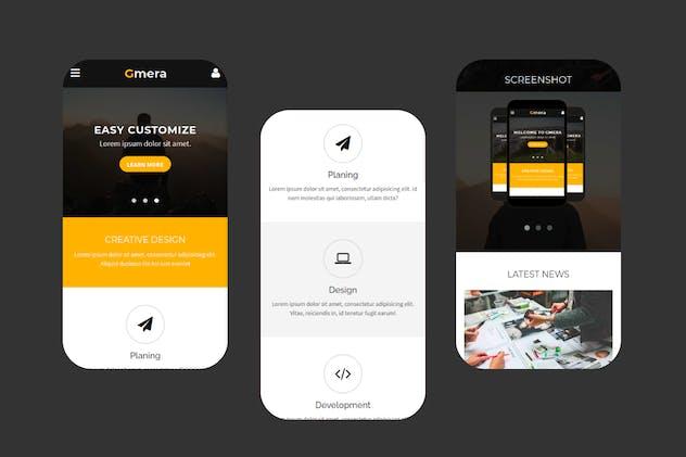 Gmera - Multipurpose Mobile Template