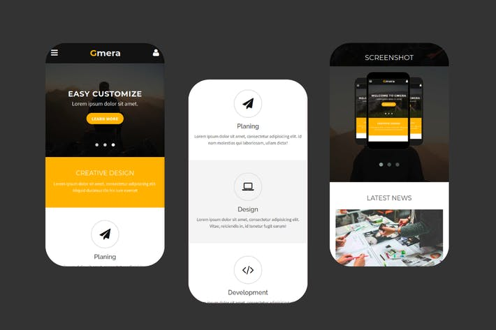 Thumbnail for Gmera - Multipurpose Mobile Template