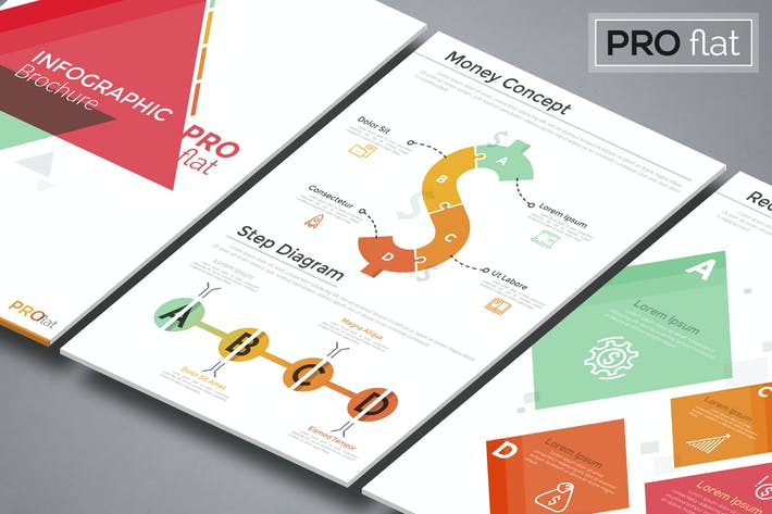 Thumbnail for Pro Flat Infographic Brochure 10
