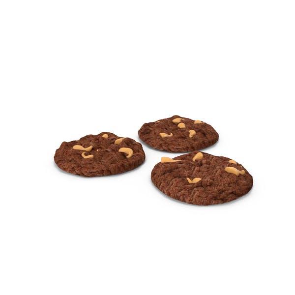 Шоколадное печенье с арахисовым маслом