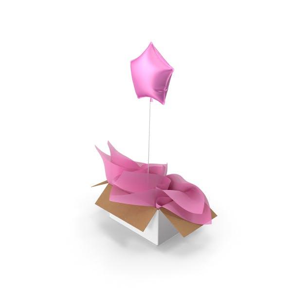Pink Star Balloon Surprise Box