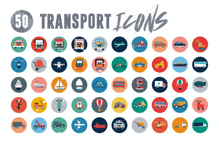 Thumbnail for 50 Transport Icons
