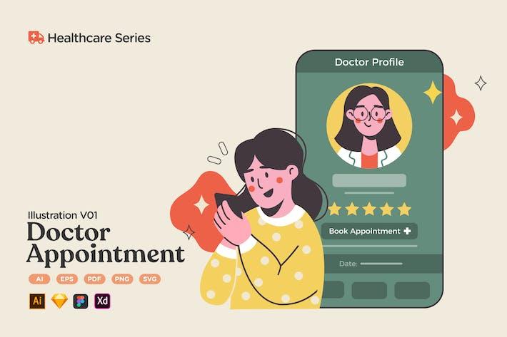 Healthcare V01 Réservation de rendez-vous pour médecin