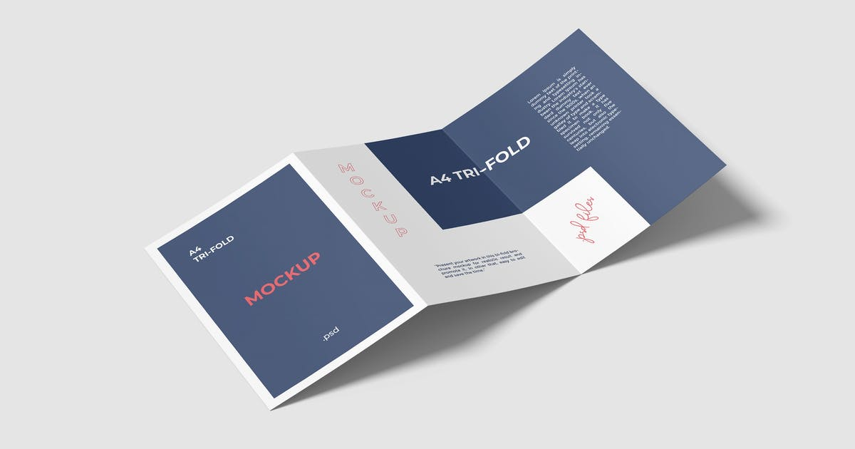 Download A4 Trifold Brochure Mockup by graphiccrew