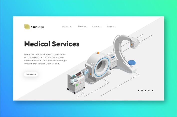 Thumbnail for Medical Service - Landing Page Template