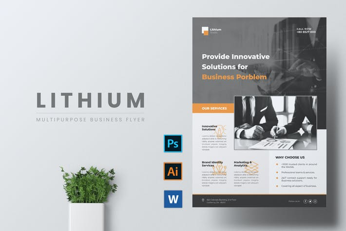 Thumbnail for LITHIUM Multipurpose Business Flyer