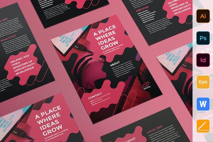 Cover Image For Digital Advertising Agency Flyer