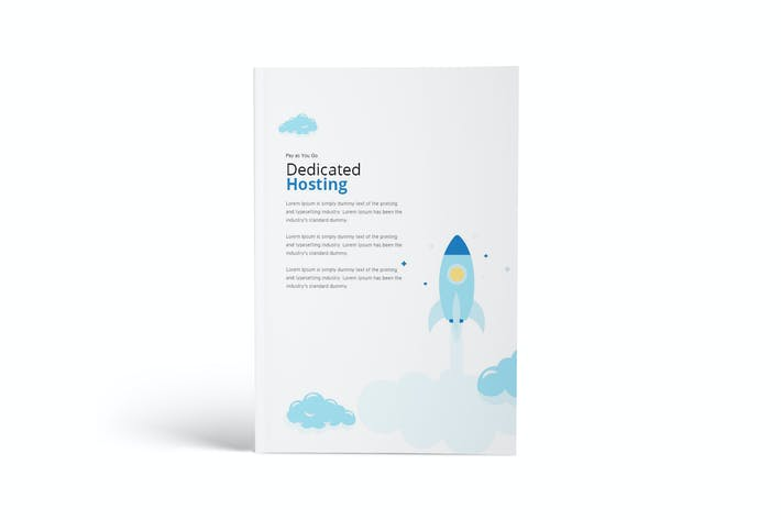 Hosting A4 Brochure Template