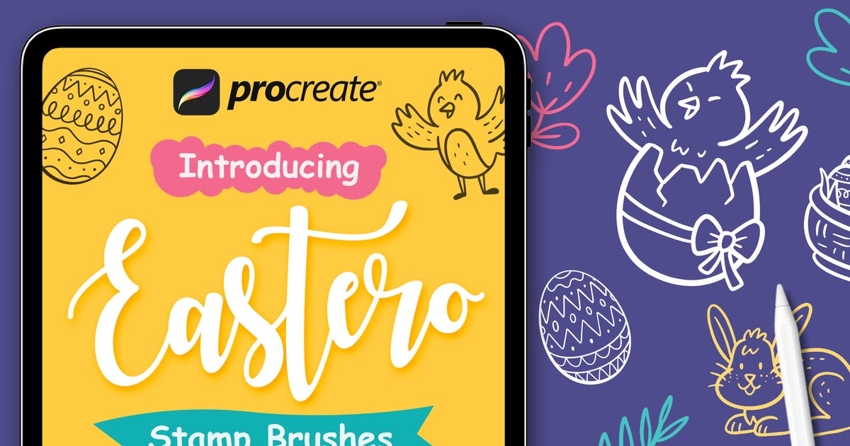 Download Easter Stamp - Procreate Brushes by Streakside