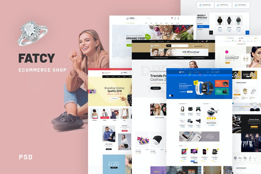 Fatcy Shopping - eCommerce PSD Template