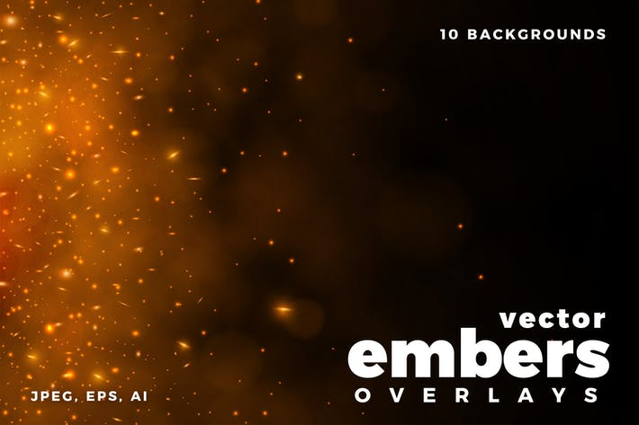 Fire Embers Vector Overlays