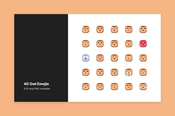 Süße Eulen-Emojis