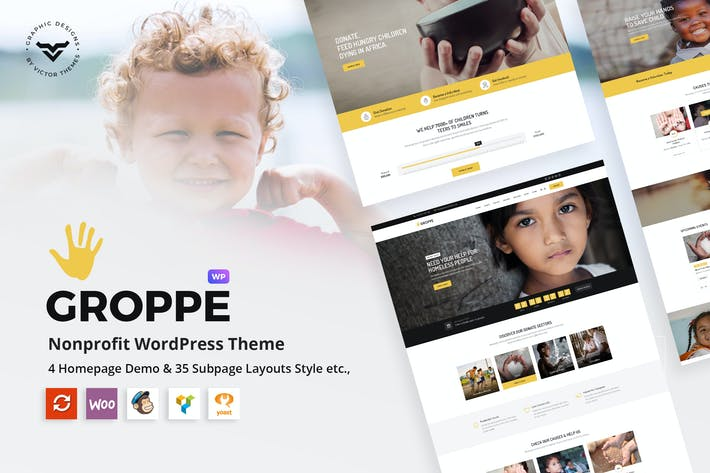 Thumbnail for Groppe - Nonprofit WordPress Theme