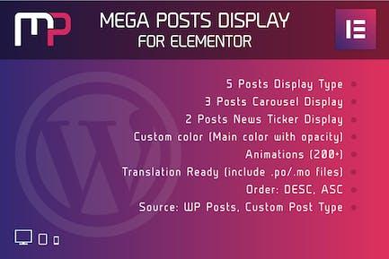 Mega Posts Display for Elementor Wordpress Plugin