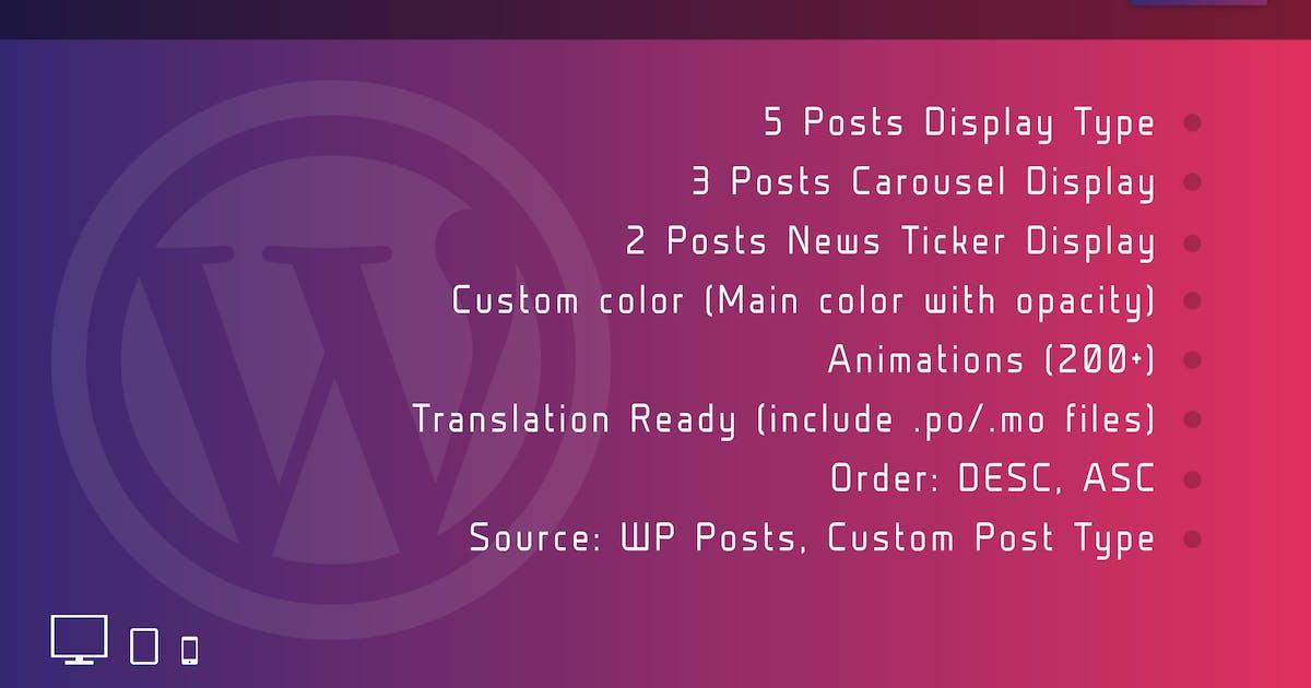 Download Mega Posts Display for Elementor Wordpress Plugin by ad-theme