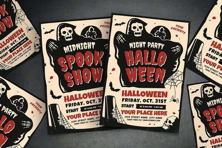 Cover Image For Halloween Party & Show Flyer