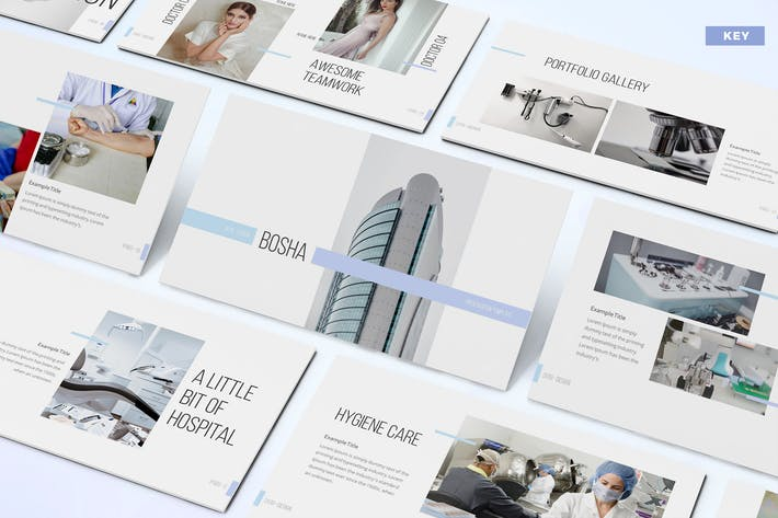 Thumbnail for Bosha - Medical Keynote Template