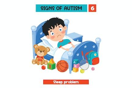 Konzeptzeichnung des Autismus-Bewussts
