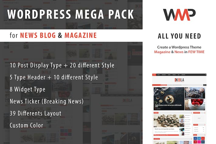 Thumbnail for WP Mega Pack for News, Blog and Magazine