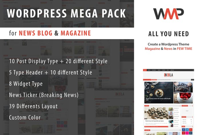 WP Mega Pack para Noticias, Blog y Revista