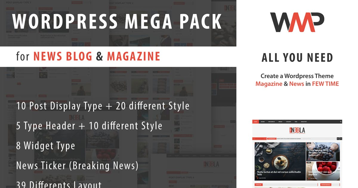 Download WP Mega Pack for News, Blog and Magazine by ad-theme
