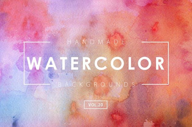 Handmade Watercolor Backgrounds Vol.20