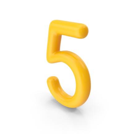Number 5 Orange