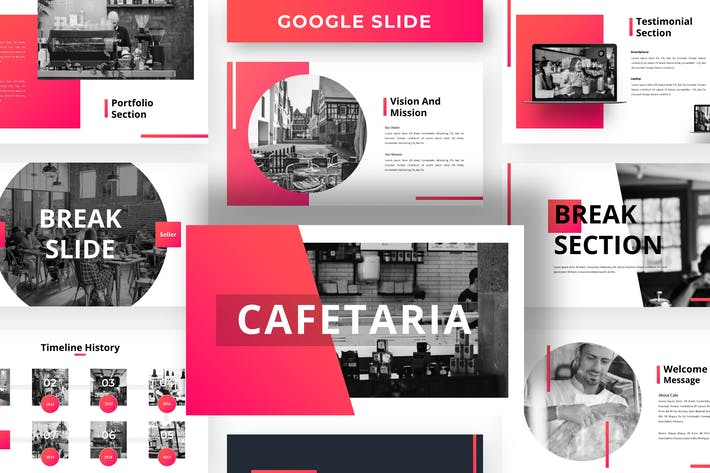 Thumbnail for Cafetaria - Business Google Slide Template