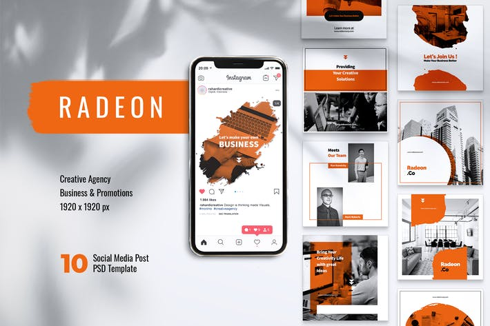 Cover Image For RADEON Creative Agency Instagram & Facebook Post