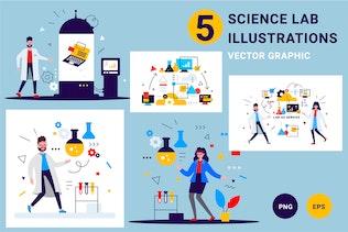 Science lab people
