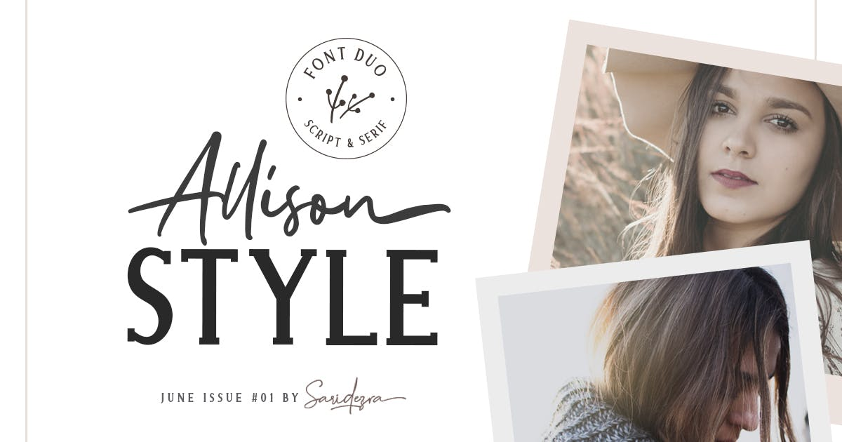 Download Allison Style - Font Duo by saridezra