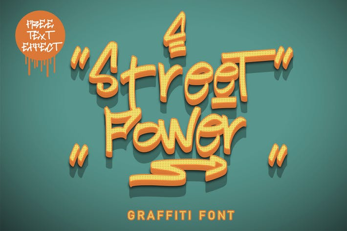 Thumbnail for Poder de la calle | Graffiti Font