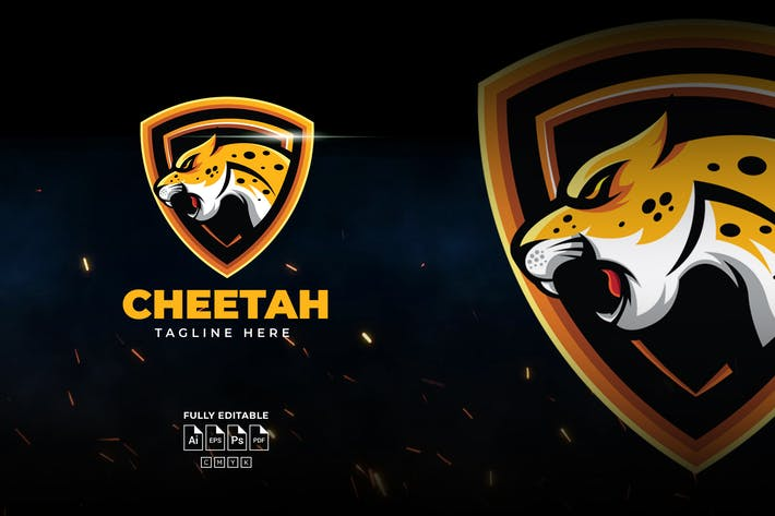 Yellow Cheetah Logo Template