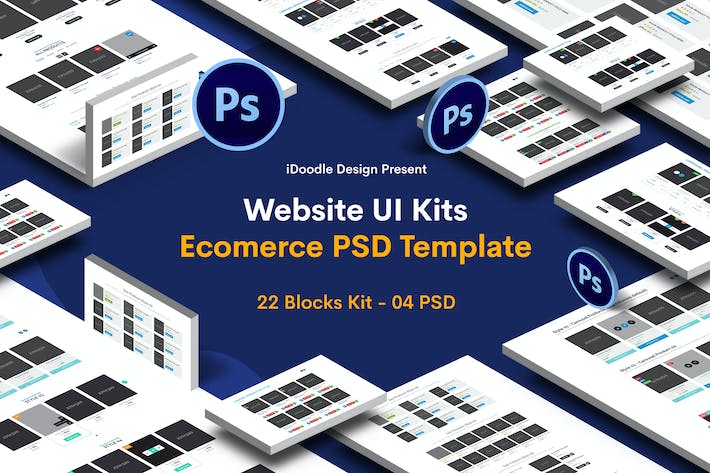 Thumbnail for Website Ecommerce UI Kits