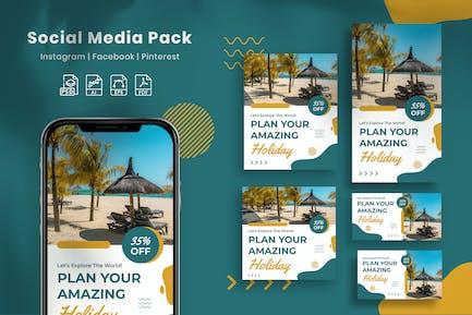 Explore World - Social Media Pack