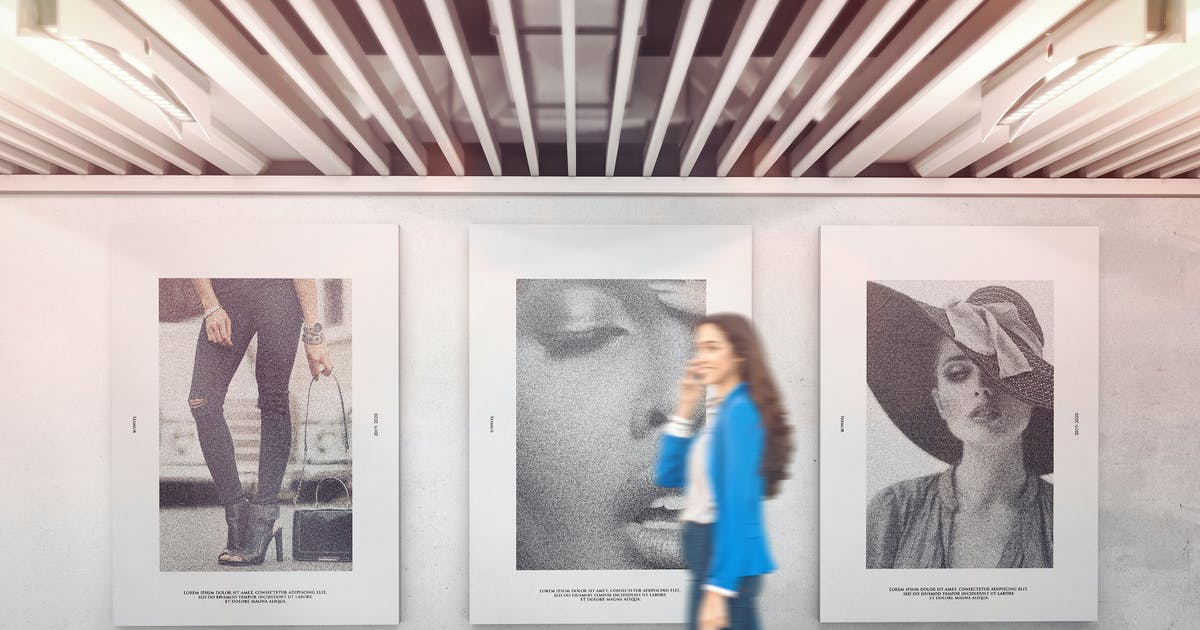 Download Exhibition Wall Mockups by StreetD