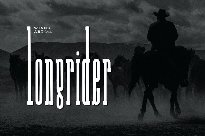 Thumbnail for Long Rider - The Cowboy Font