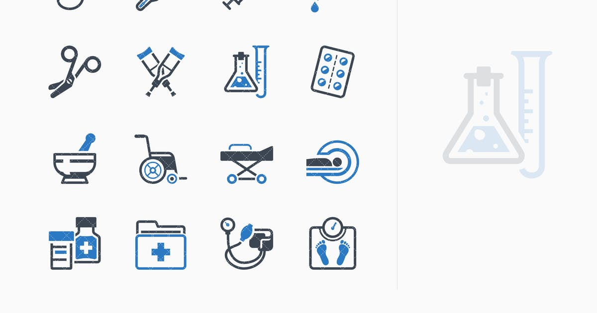 Download Medical Equipment & Supplies Icons - Blue Series by introwiz1