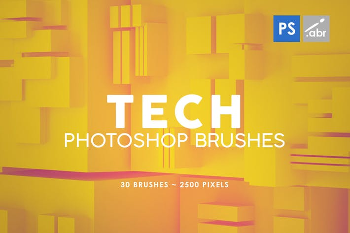 Thumbnail for 30 Tech Photoshop Stamp Brushes