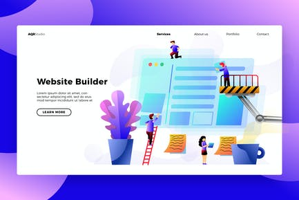 Building Website - Banner & Landing Page