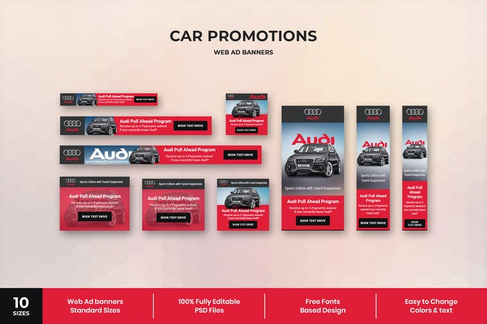 Thumbnail for Car Promotions - Web Ad Banner Template