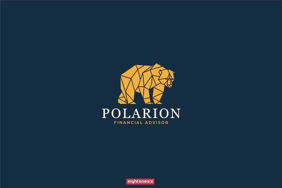 Download Polygon Bear Logo Template by EightonesixStudios