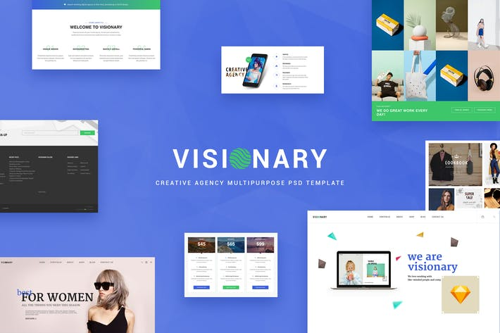 Thumbnail for Visionary - Creative Agency Sketch Template