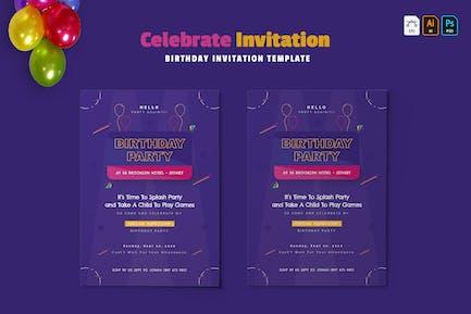 Celebrate   Birthday Invitation